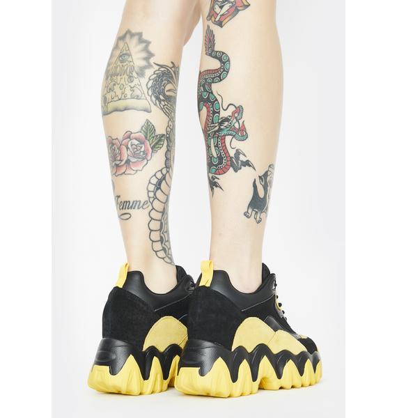 Anthony Wang Bumblebee Blackberry Platform Sneakers