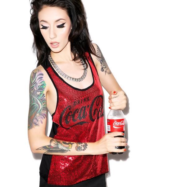 Drink Coca Cola Sequin Tank