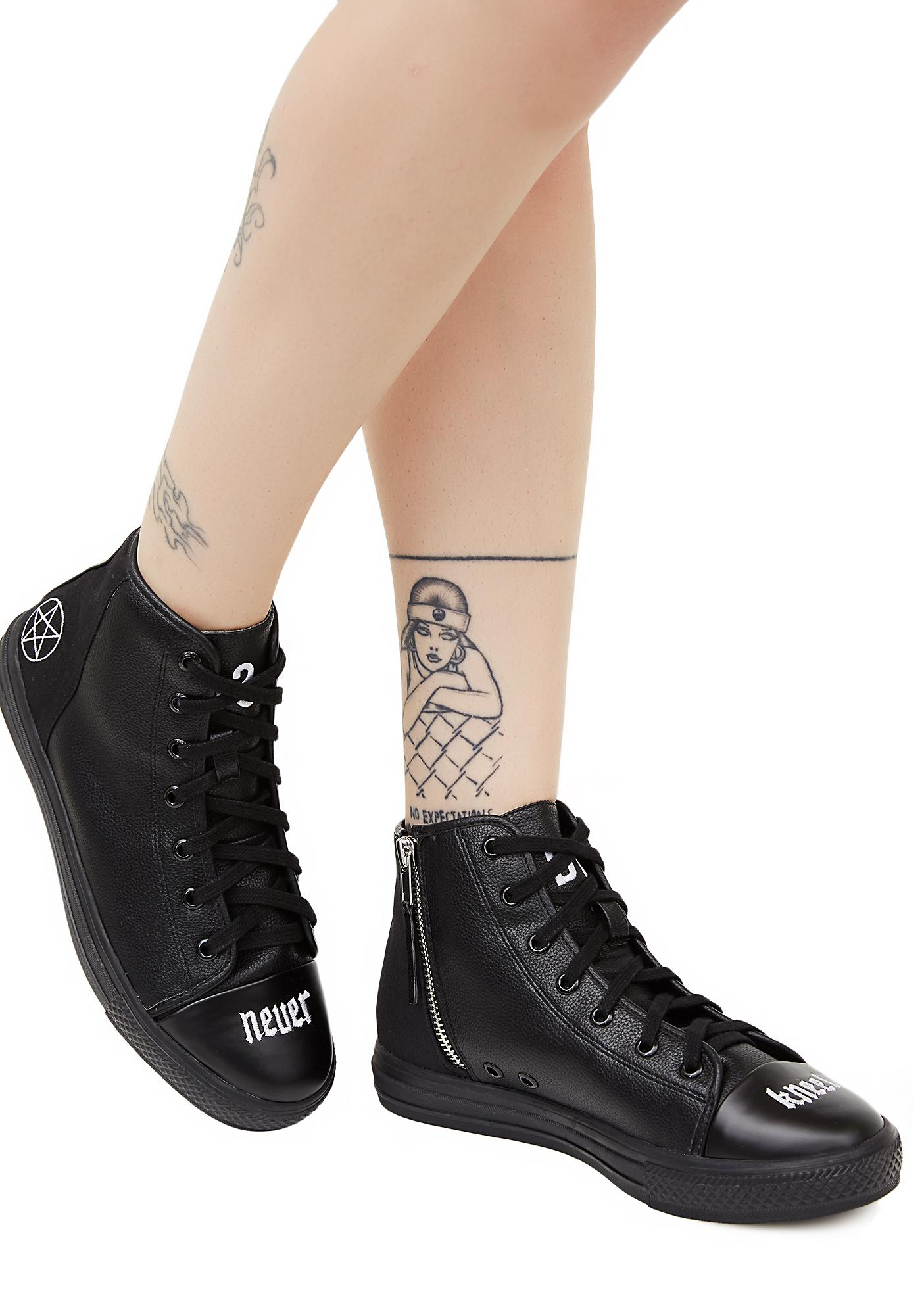Disturbia Never Kneel Sneakers