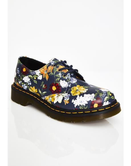 1461 Darcy Floral Oxfords