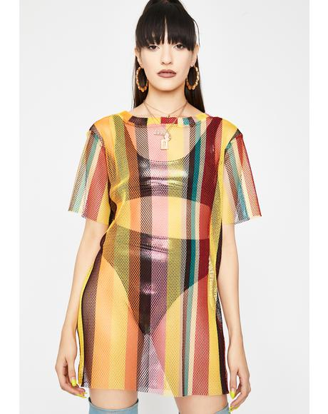 Rasta Chill Mesh Dress