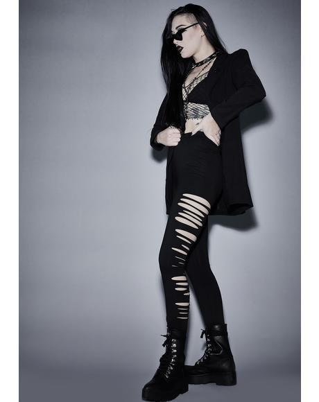 Immortal Crypt Creeper Shredded Leggings