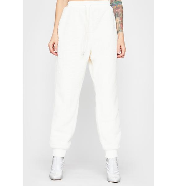Boo Mentally Checked Out Fuzzy Joggers