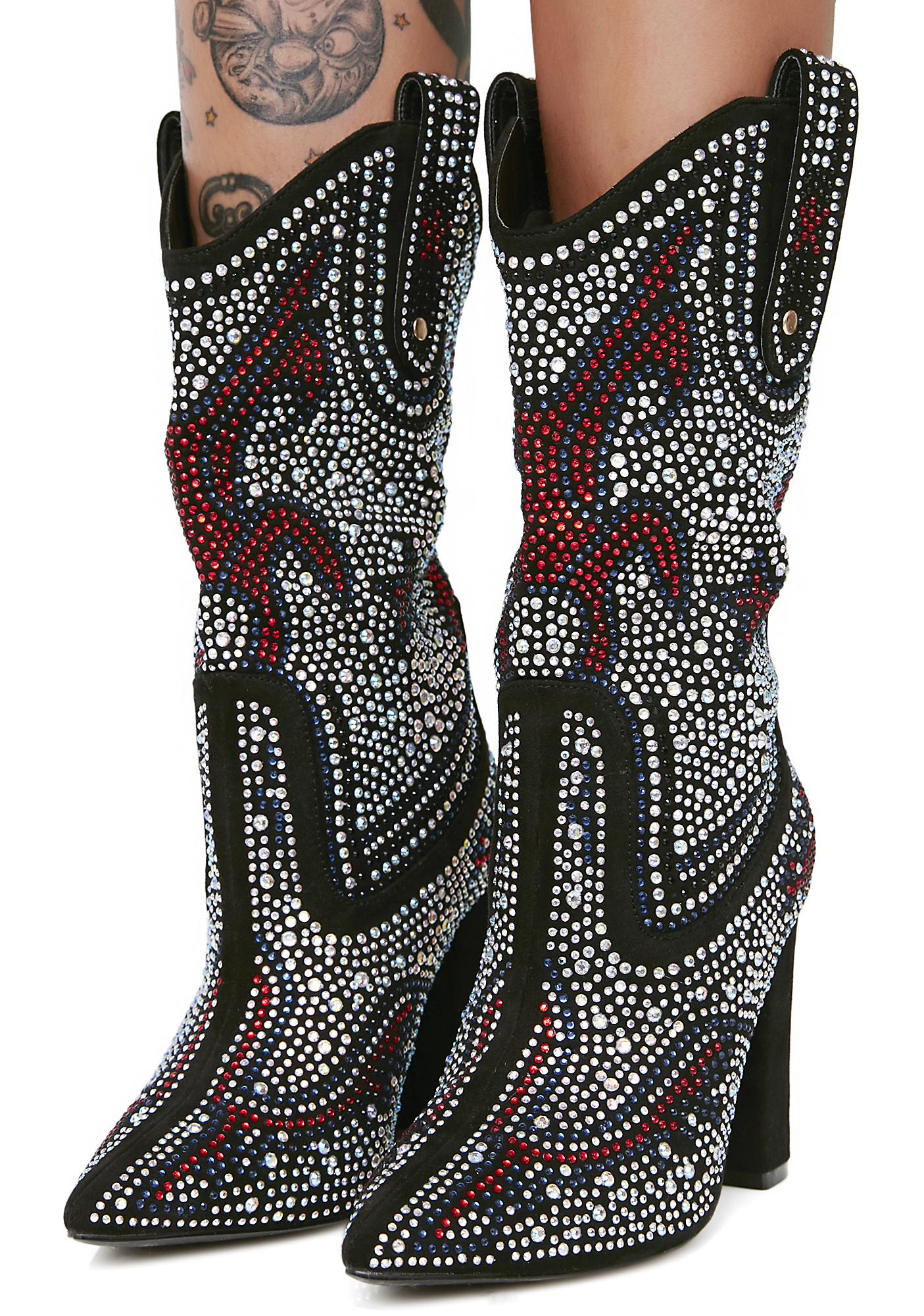Sharpshootin' Sweetie Studded Cowboy Boots