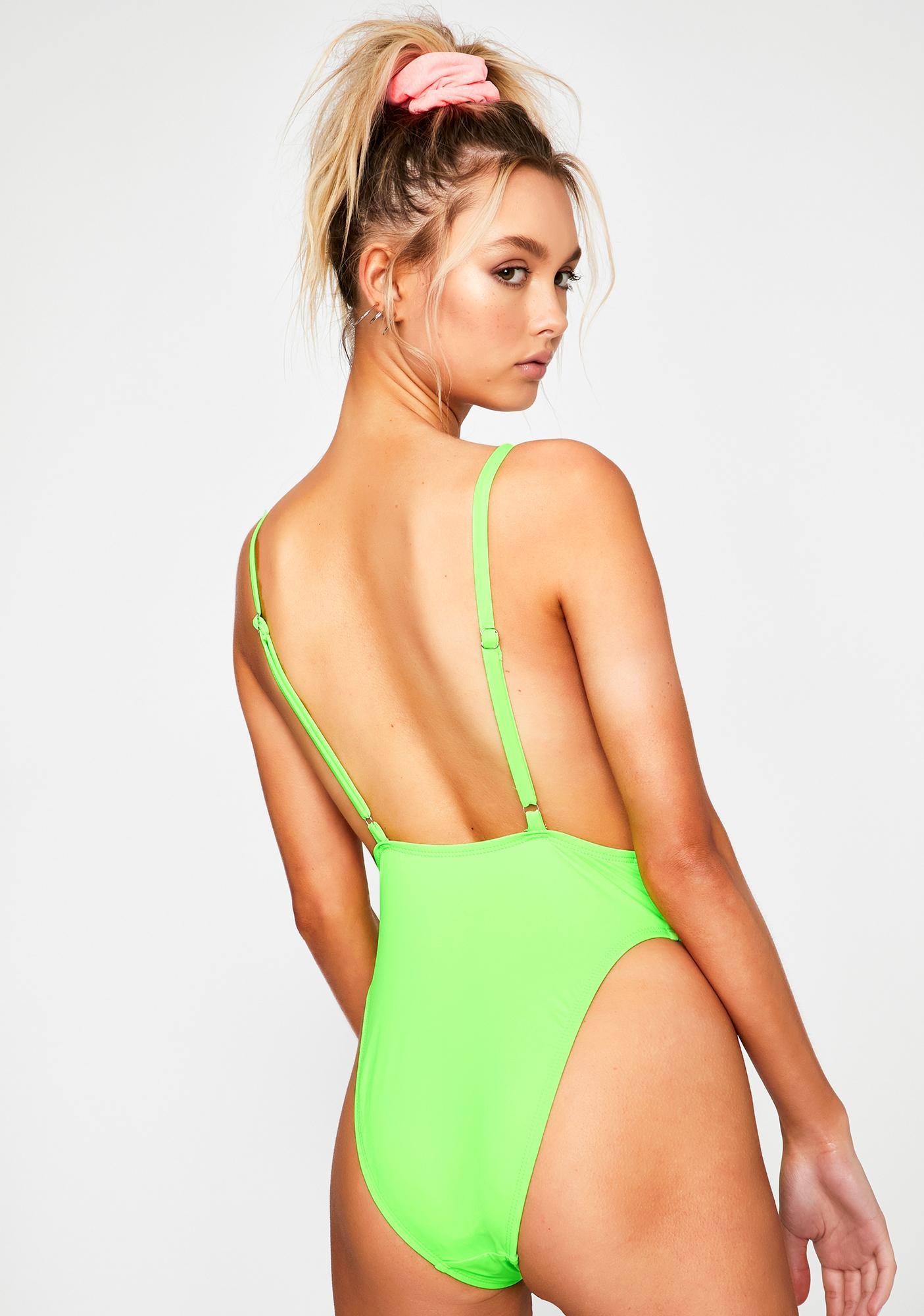 Dippin' Daisy's Lime Euphoria One Piece Swimsuit