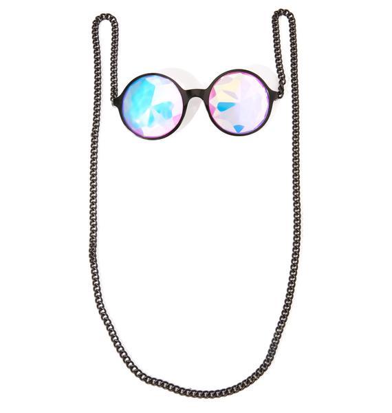 My Willows Mosaic Kaleidoscope Chain Glasses