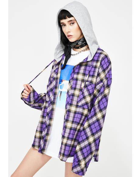 Check Yes Flannel Hoodie