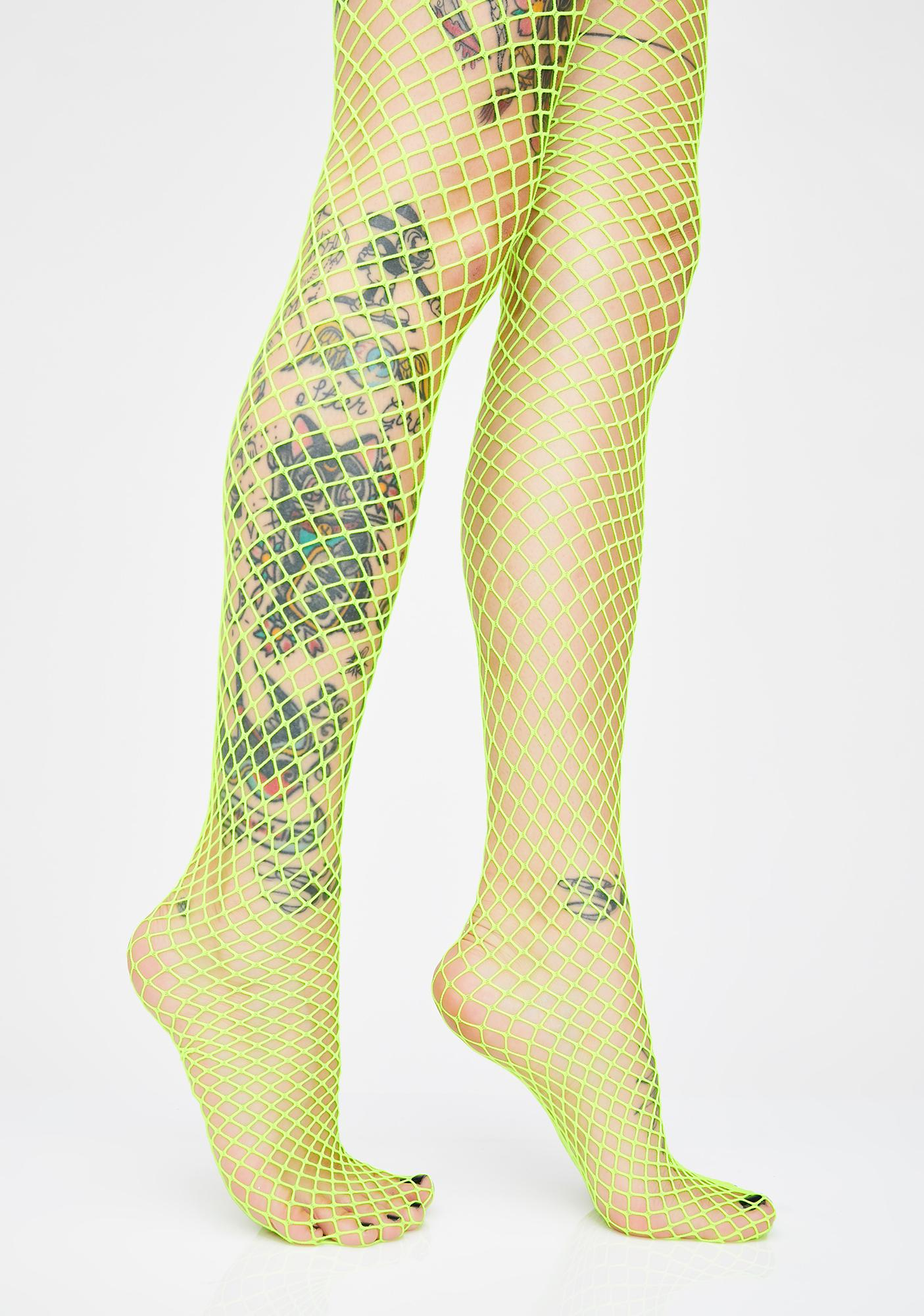 63bb862ad Fishnet Tights Mini Rhinestone Green