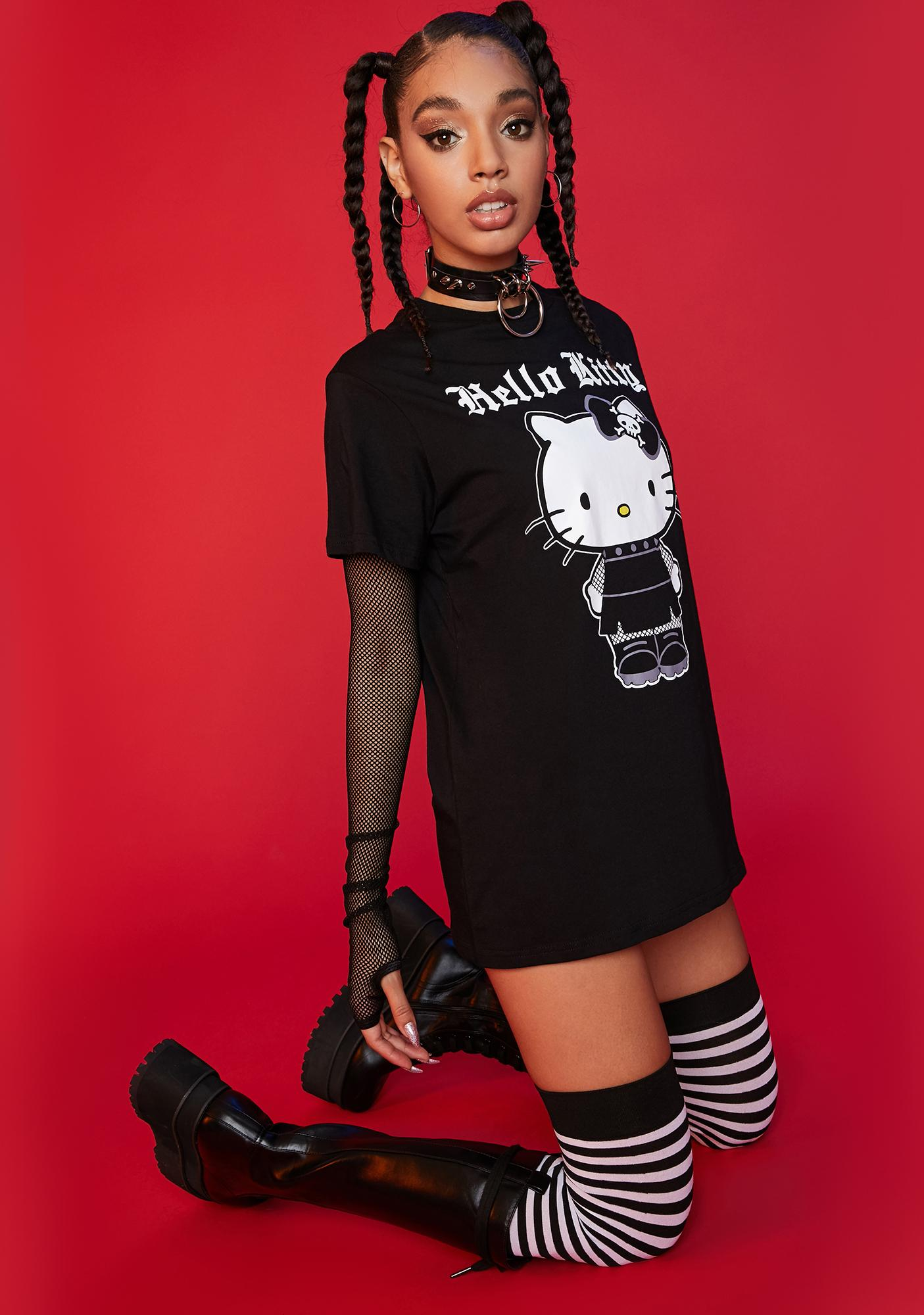 Dolls Kill x Hello Kitty Mischief On My Mind Graphic Tee
