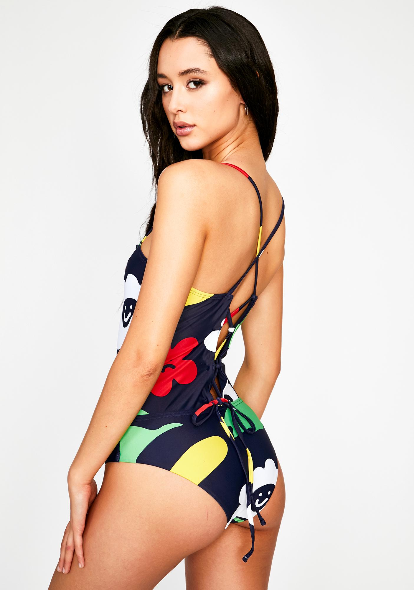 Lazy Oaf Flower Bed One Piece Swimsuit