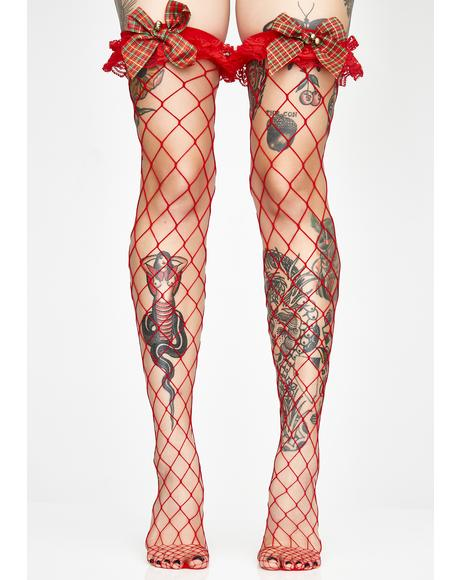 Naughty N' Nice Fishnet Stockings