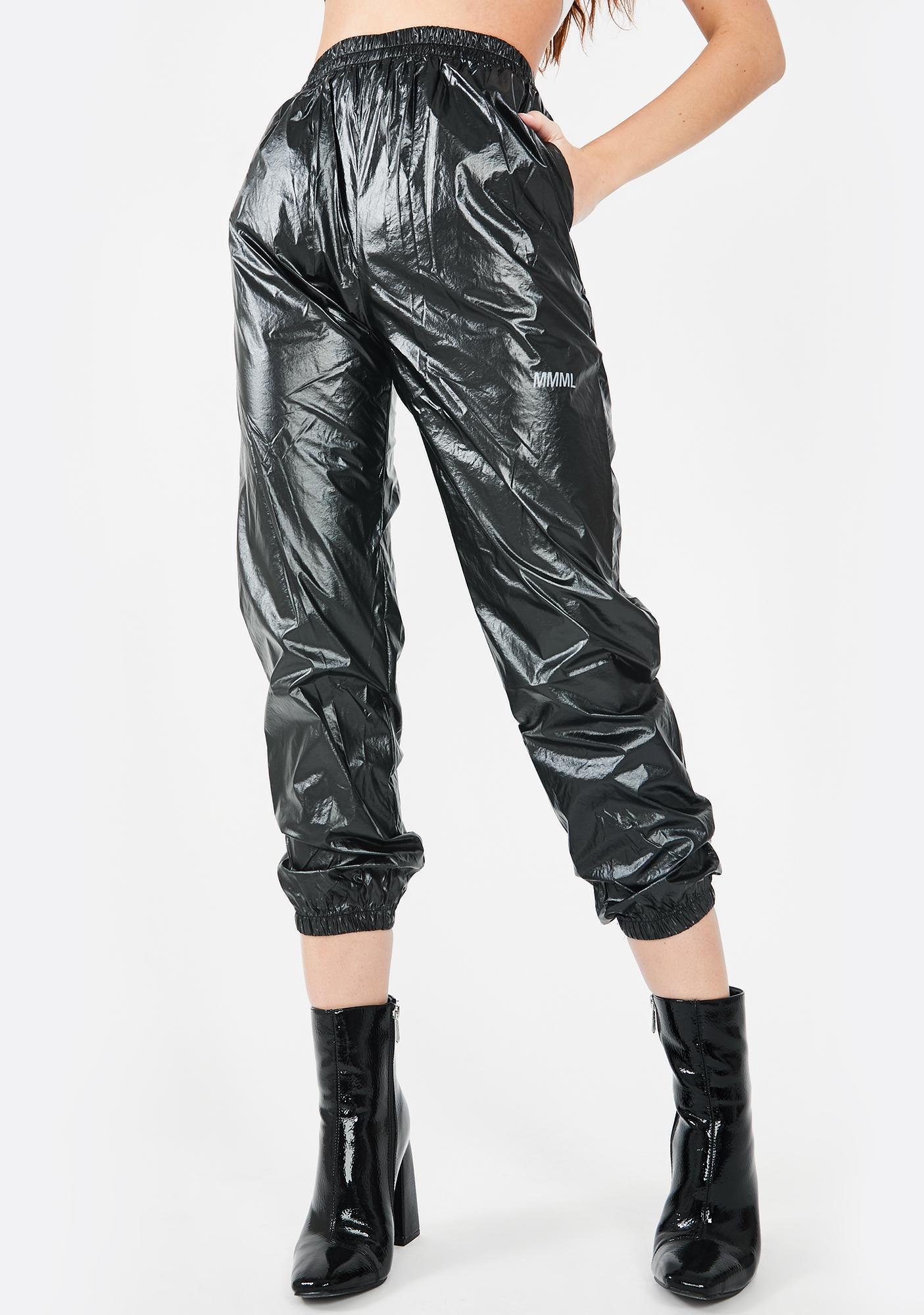 Public Desire Cuffed Waxy Jogger Sweatpants