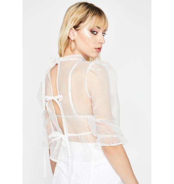 Holy Blurred Lines Organza Blouse