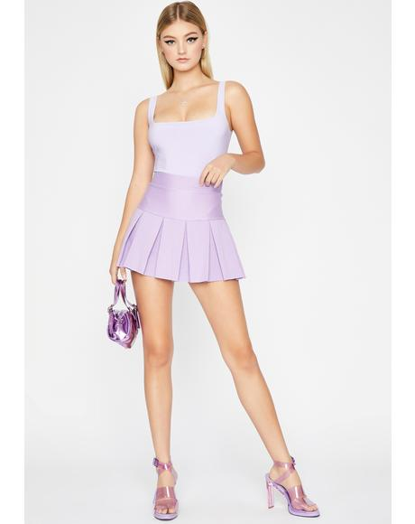 Lilac Dope Vibes Tank Bodysuit