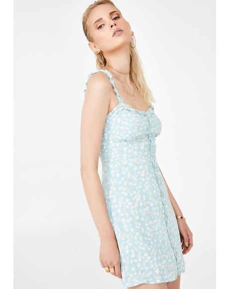 Celadon Site Floral Dress