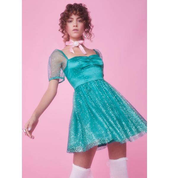 Sugar Thrillz Diamonds Are Forever Babydoll Dress