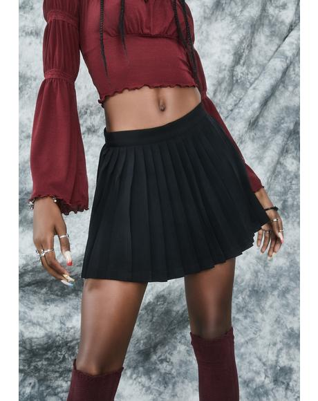 Rad Omens Pleated Mini Skirt