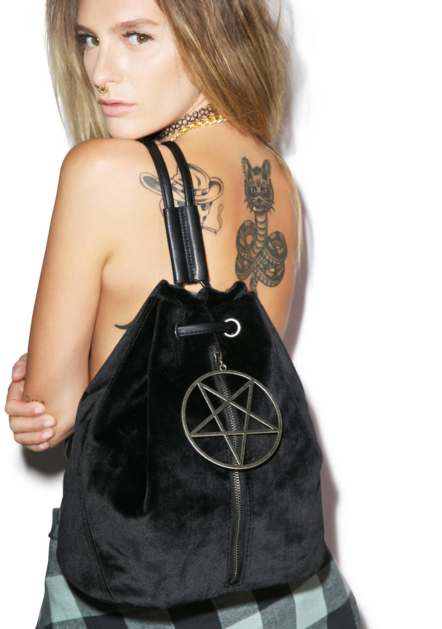 Dolly Bae Velvet Legend Pentagram Backpack
