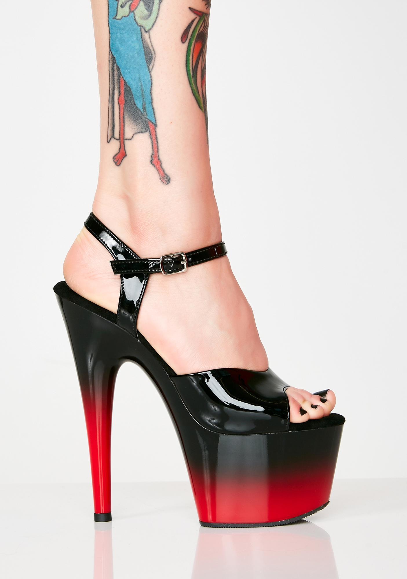 Pleaser Kat Stacks Adore Platform Heels