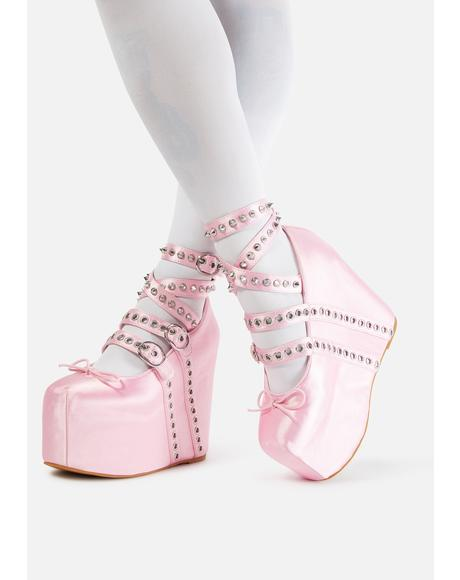 Sweet Sonata Platform Ballet Heels