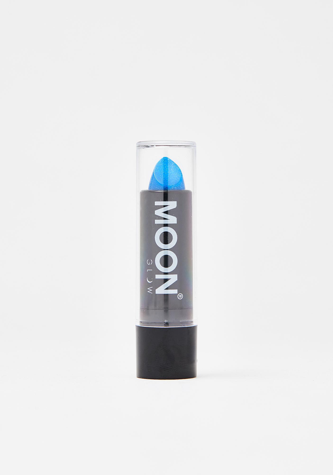Moon Creations Blue Holographic Glitter Lipstick