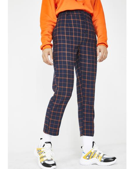 Detention Regular Plaid Pants