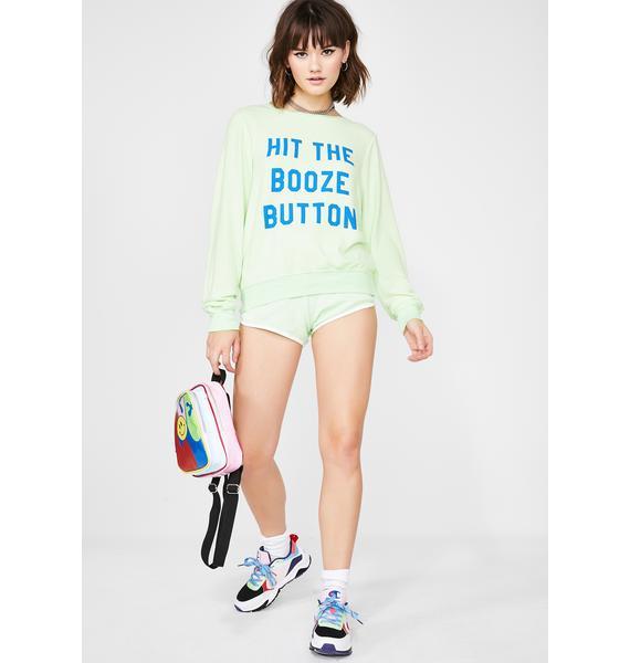 Wildfox Couture Booze Button Baggy Beach Jumper