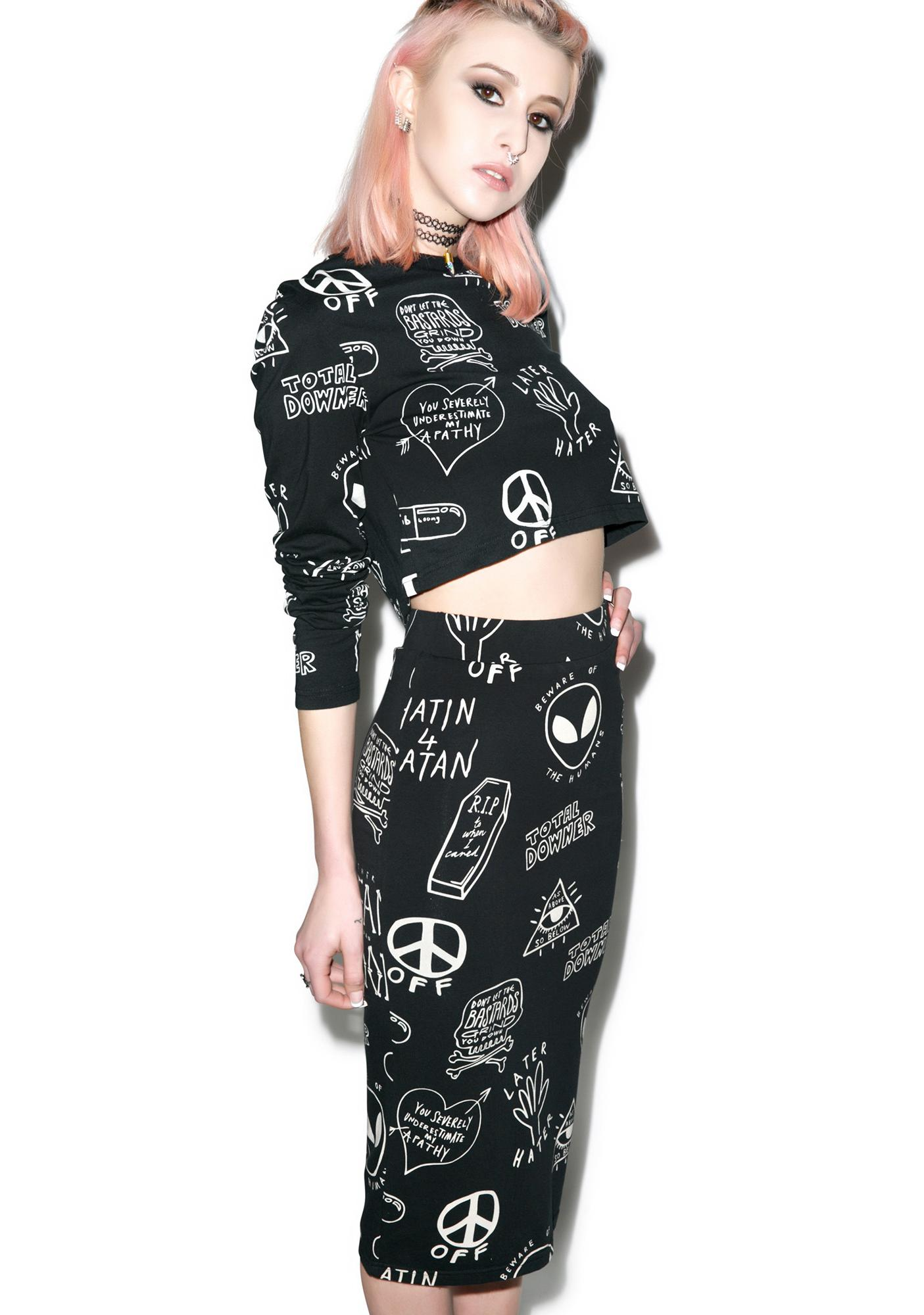 Disturbia Downer Pencil Skirt