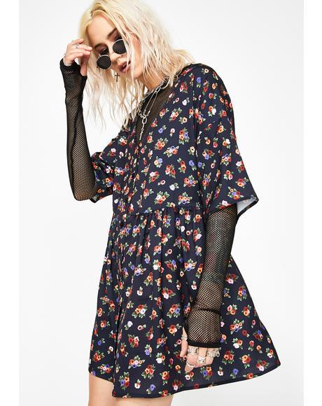 Broken Thoughtz Floral Dress