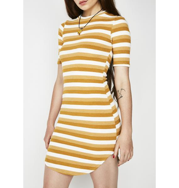 Creamsicle Mod About You Striped Dress