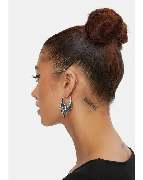 Up in Flames Hoop Earrings