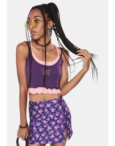 Purple Devon Layered Tank Top