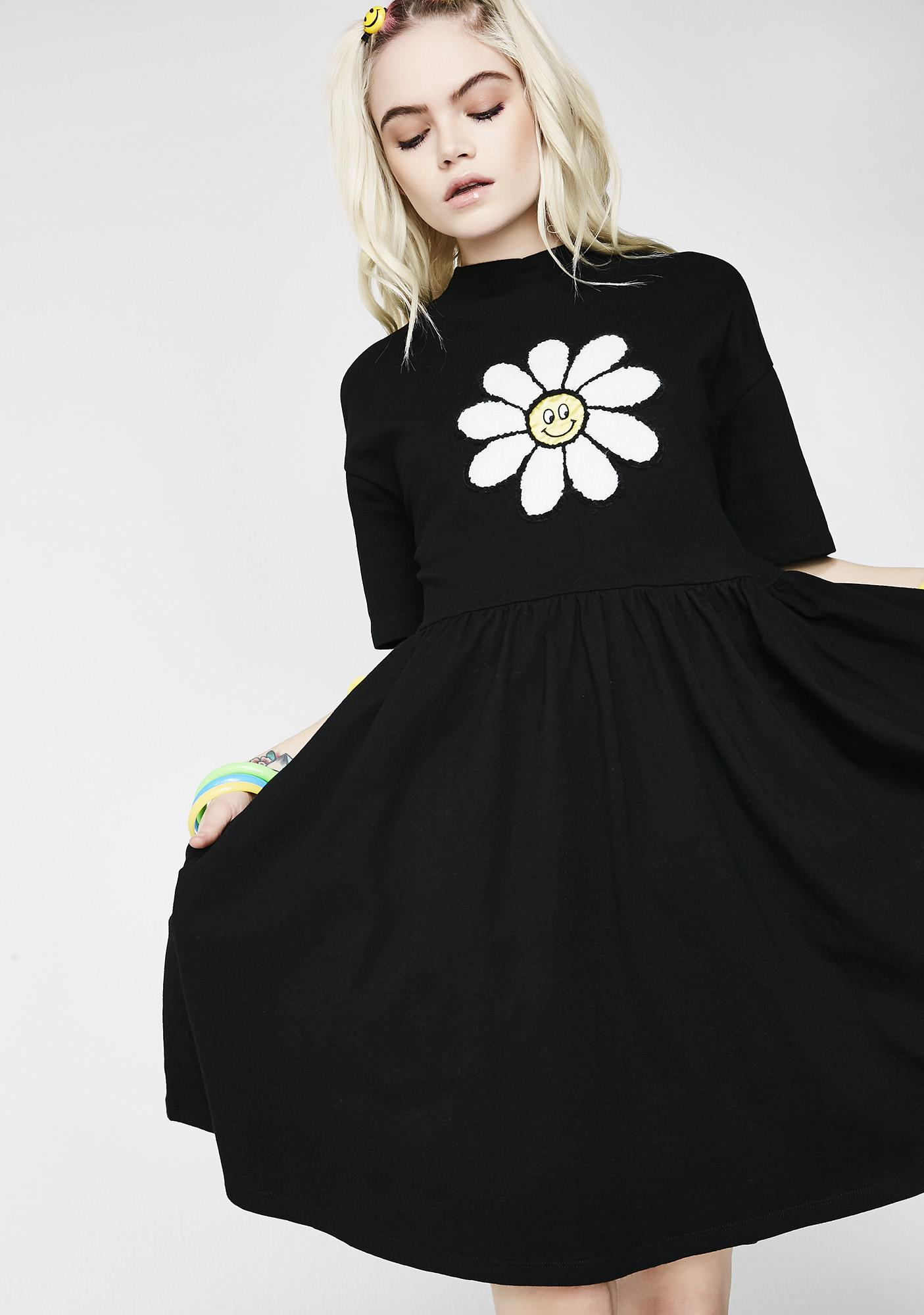 Lazy Oaf Dark Giant Daisy Dress