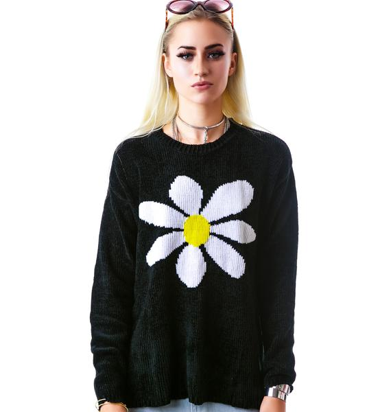 Mink Pink Happy Daisy Knit Sweater