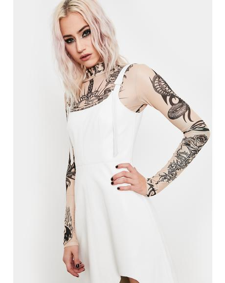 Power Chord Vegan Leather Dress