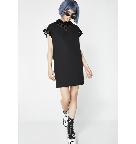 Lazy Oaf Polka Dot Smock Dress