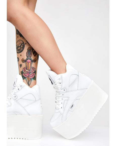 Rising Towers High Nappa Leather Sneakers