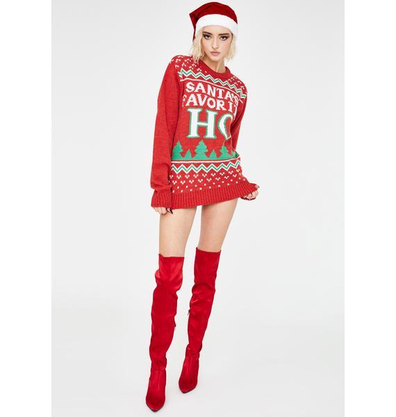 American Stitch Santas Favorite Ho Sweater