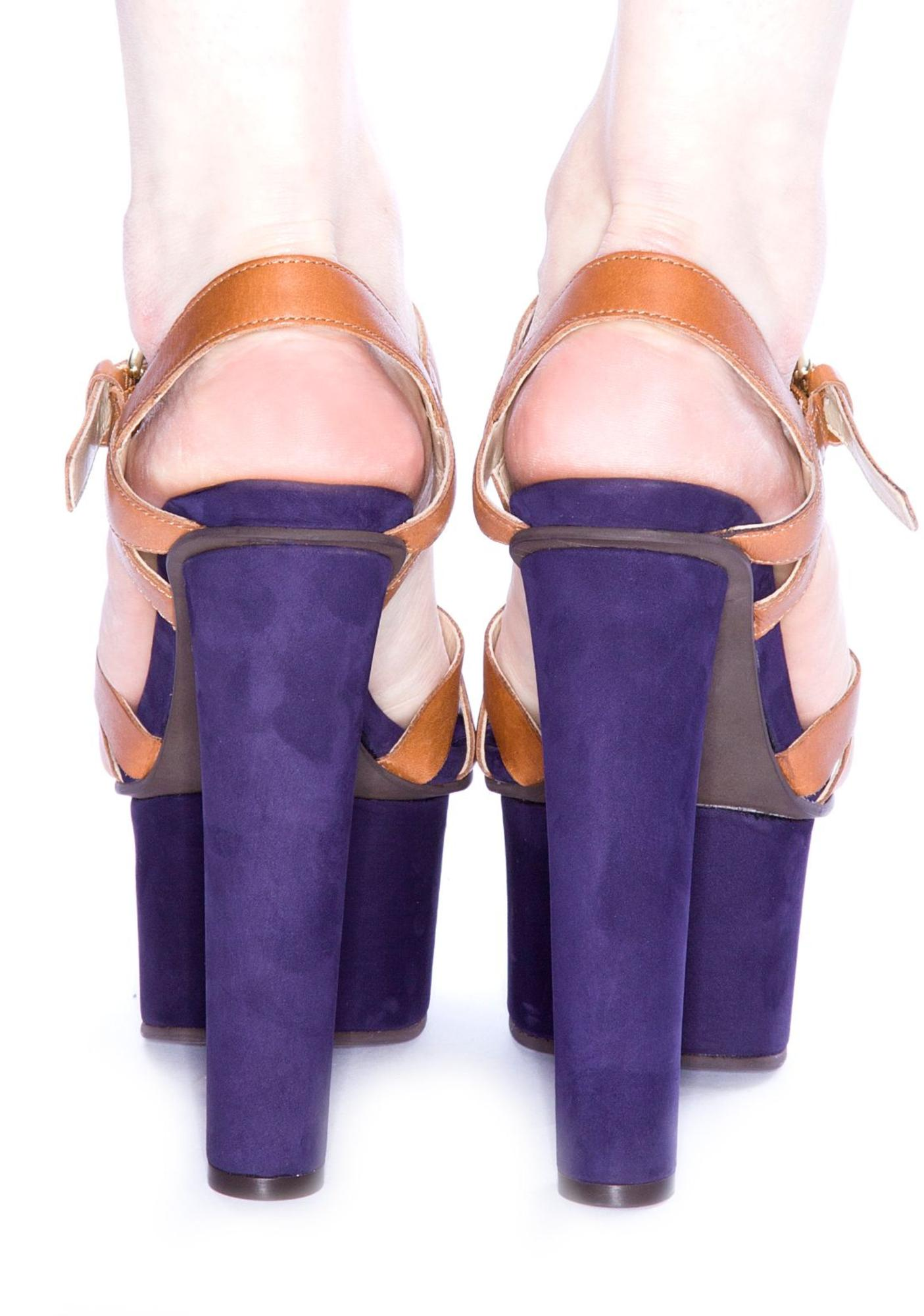 The Shooop Cognac Purple and Brown Platform