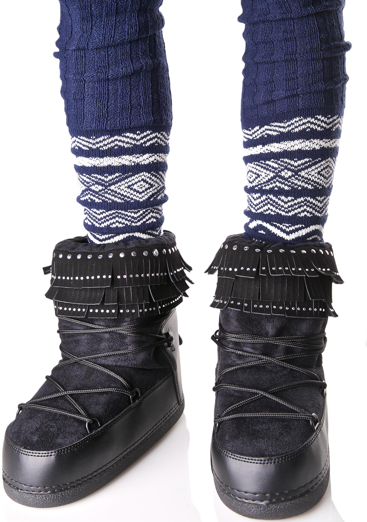 Dark Plutonic Moon Boots