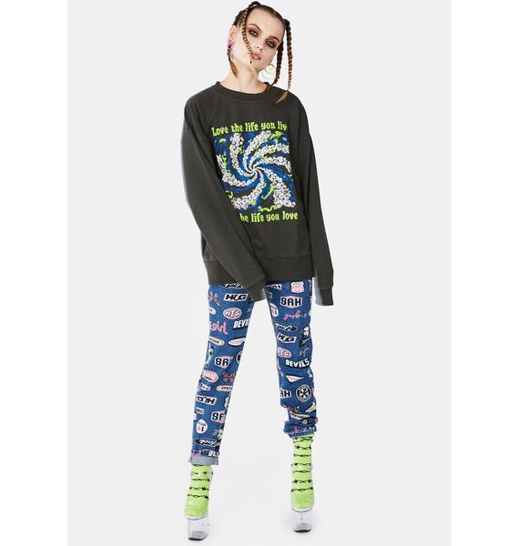 x-Girl Love Life Live Crew Sweatshirt