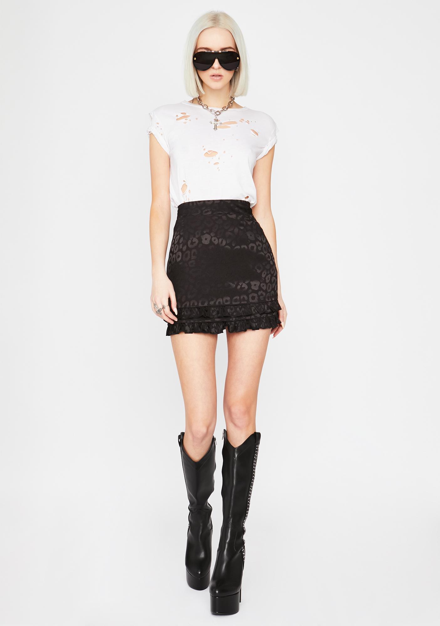 Noir Fierce For U Leopard Mini Skirt