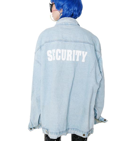 Vintage Cobra Security Denim Jacket