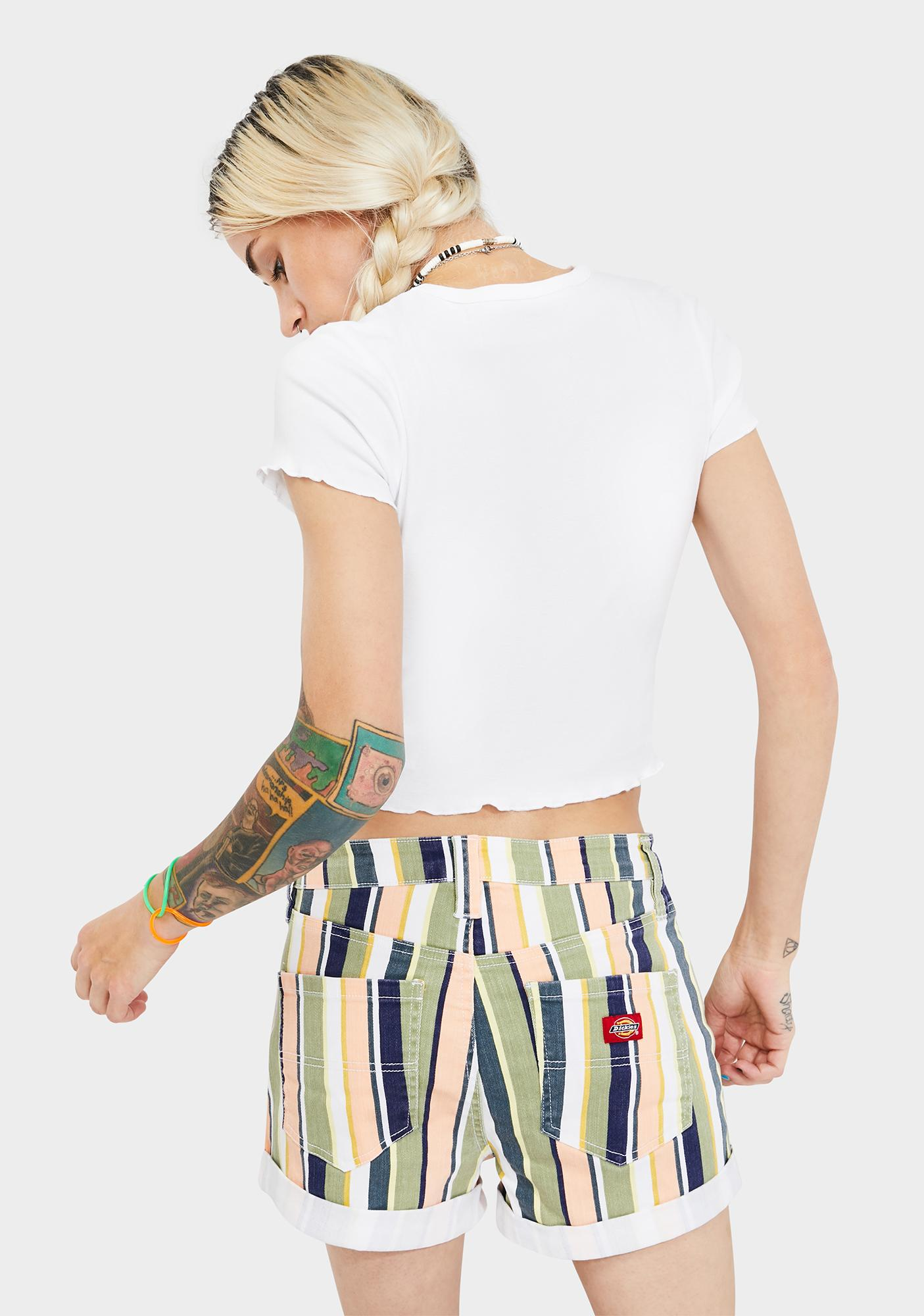 Dickies Girl Short Sleeve Heritage Logo Crop Baby Tee