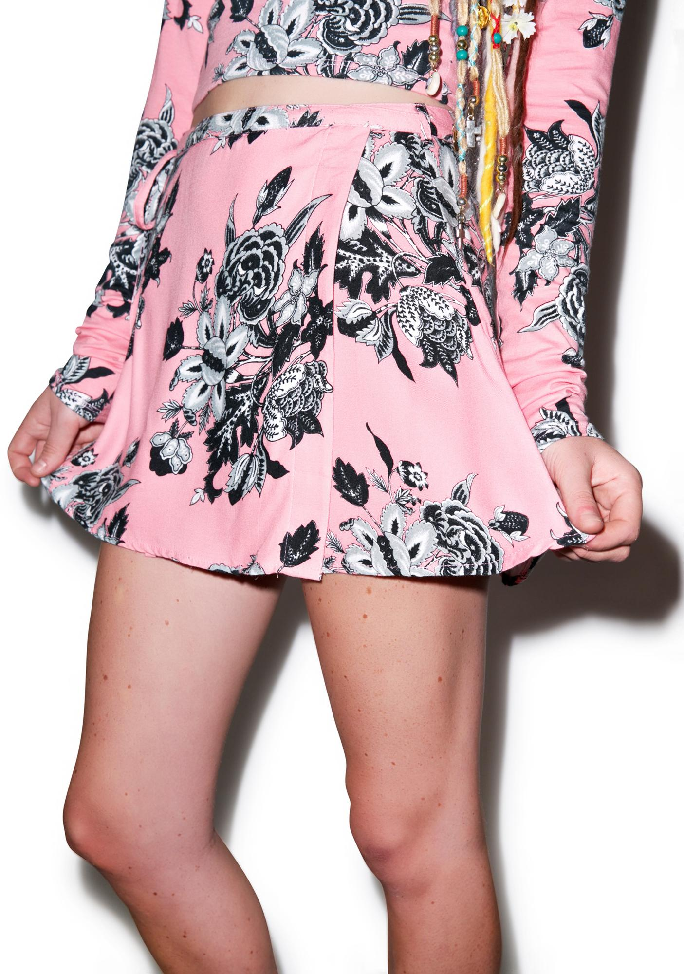 Motel Wrap Mini Skirt