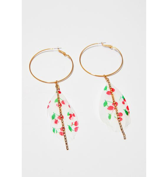 Sweet Thang Feather Hoop Earrings