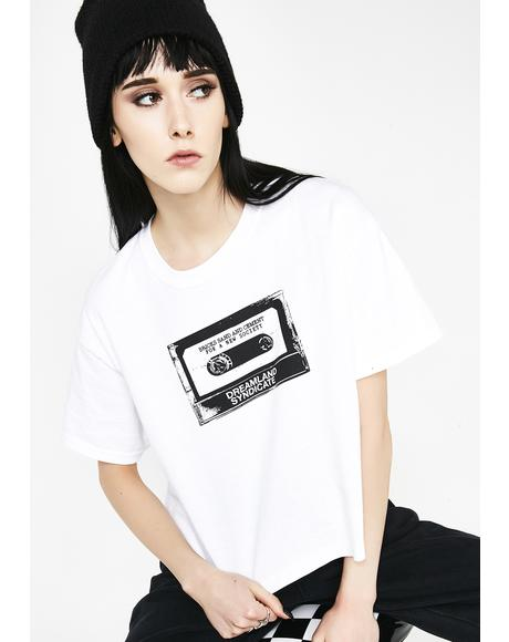 Tape Cropped T-Shirt