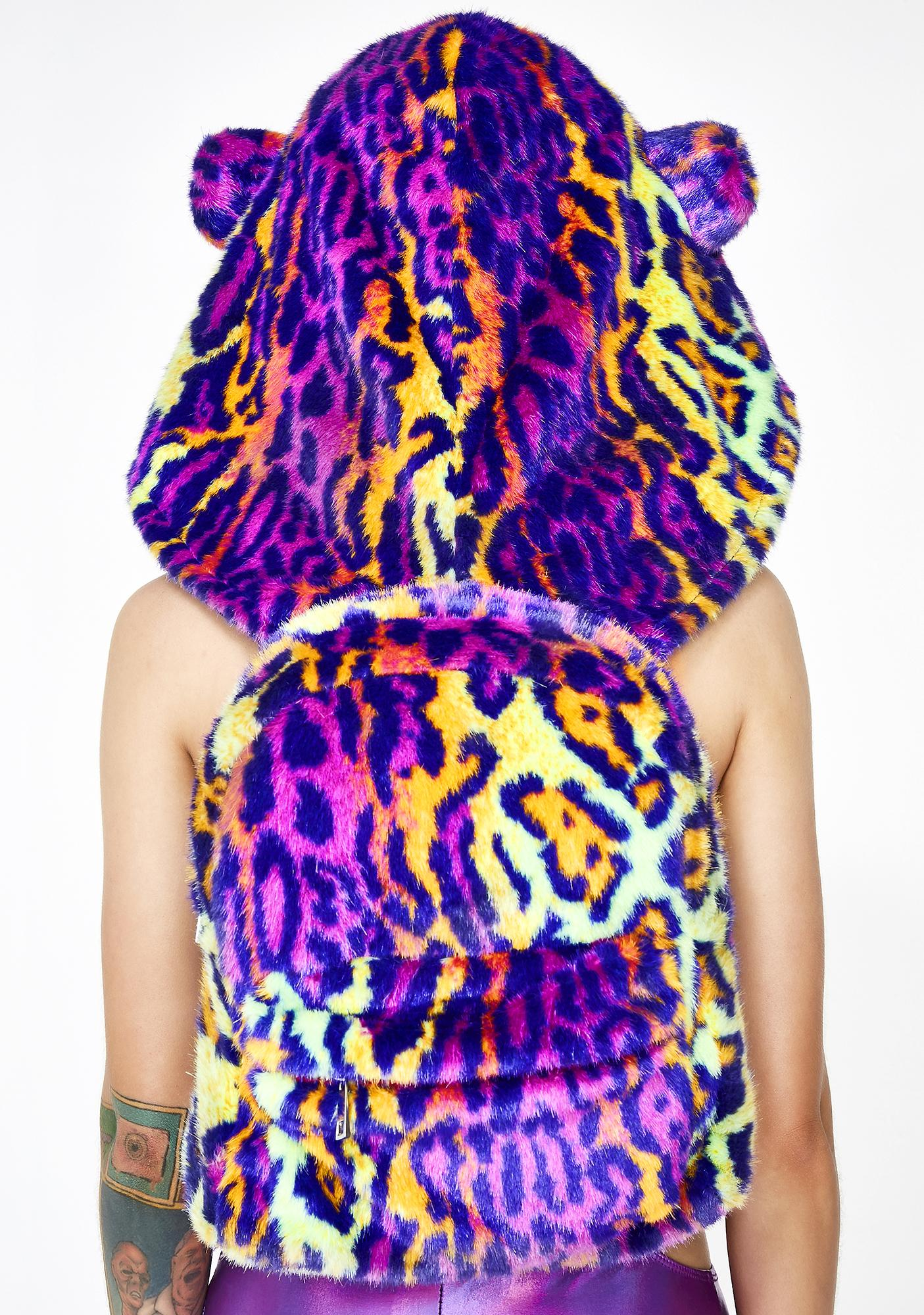 Club Exx Rave Kitty Hooded Backpack