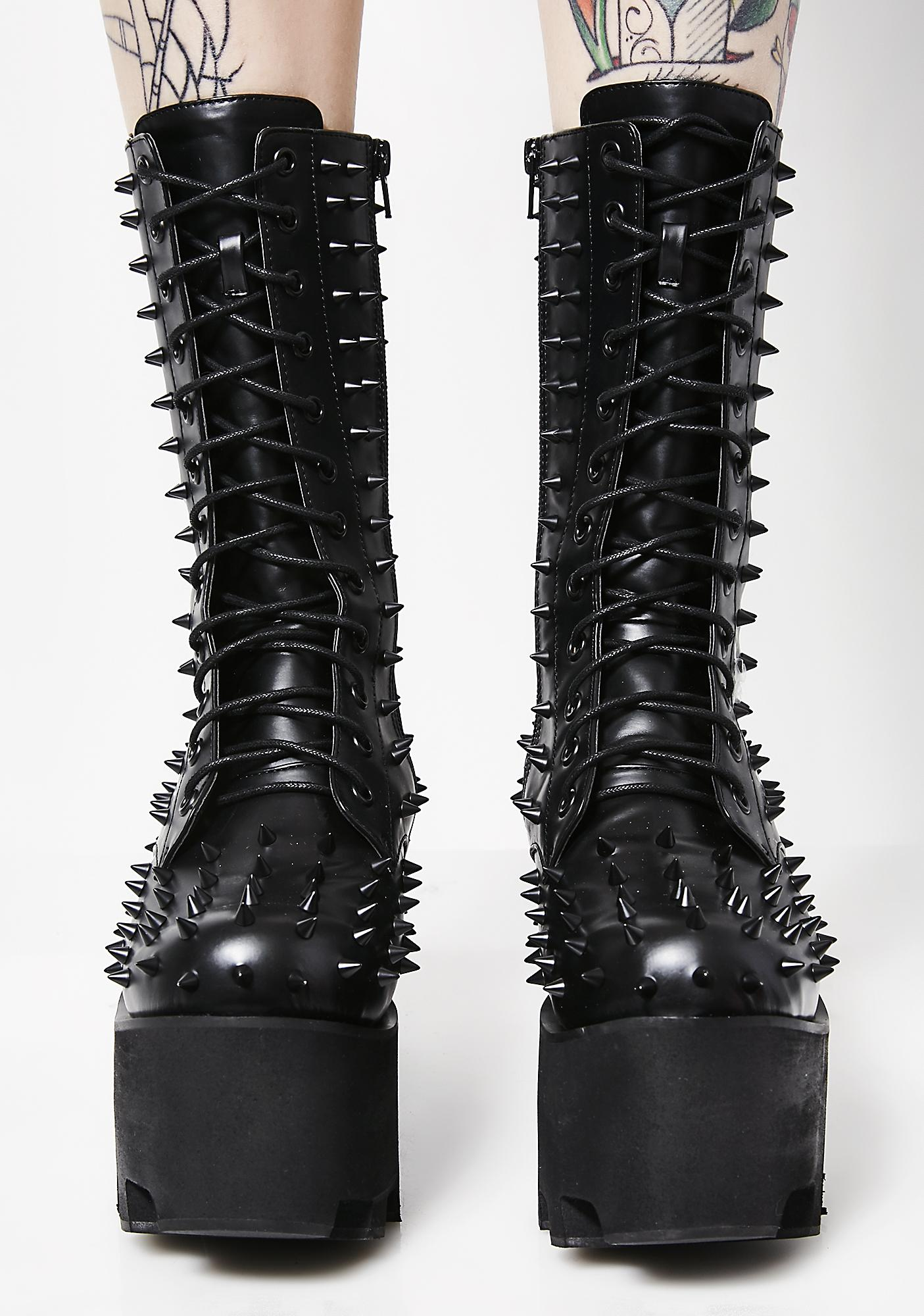 Charla Tedrick Black Metal Boots