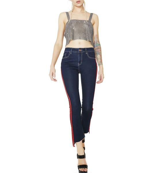 Speedster Striped Skinny Jeans